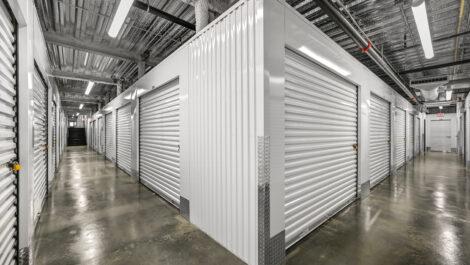 row of interior storage units.
